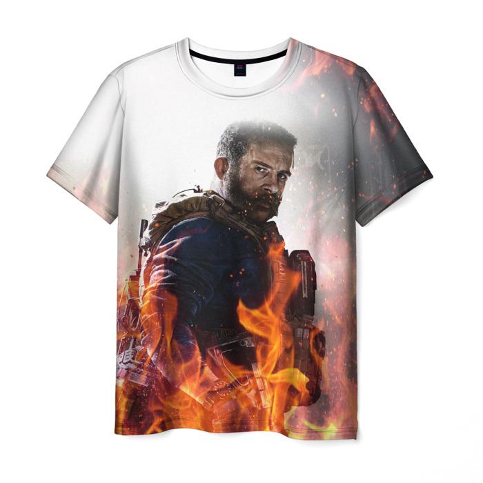Merchandise Men'S T-Shirt Hero Fire White Call Of Duty