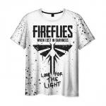 Merchandise Men'S White T-Shirt The Last Of Us Merchandise