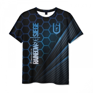 Merch Men'S T-Shirt Rainbow Six Siege Black Apparel