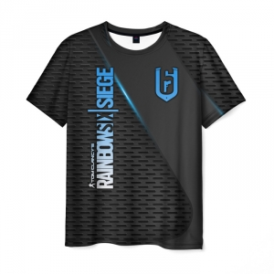 Merch Men'S T-Shirt Black Print Rainbow Six Siege