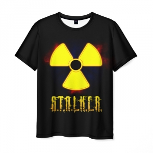 Collectibles Men'S T-Shirt Black Text S.t.a.l.k.e.r. Print