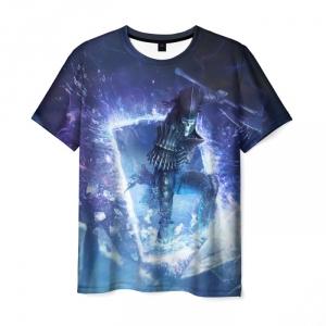 Merch Men'S T-Shirt Wild Hunt Witcher Scene Print
