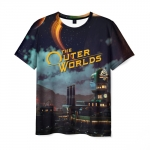 Collectibles Men'S T-Shirt The Outer Worlds Scene Print