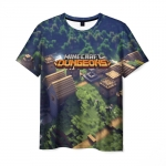 Merch Men'S T-Shirt Landscape Minecraft Dungeons Print