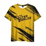 Merchandise Men'S T-Shirt Yellow The Outer Worlds Print