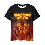 Merch Men'S T-Shirt Design The Last Of Us Black