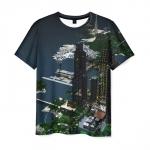 Collectibles Men'S T-Shirt Minecraft City Print Apparel