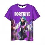 Merchandise Men'S T-Shirt Fortnite Purple Merchandise Hero