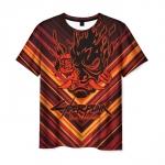 Merchandise Men'S T-Shirt Cyberpunk 2077 Label Print Design