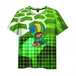 Collectibles Men'S T-Shirt Leon Brawl Stars Hero Print