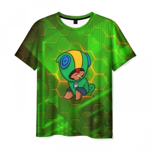 Collectibles Men'S T-Shirt Leon Brawl Stars Green Picture