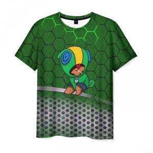 Collectibles Men'S T-Shirt Brawl Stars Leon Print Green Merch