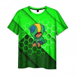 Collectibles Men'S T-Shirt Brawl Stars Leon Toxic Green Print