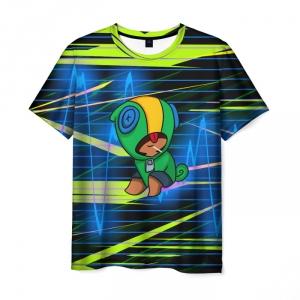 Collectibles Men'S T-Shirt Brawl Stars Leon Clothes Design Print