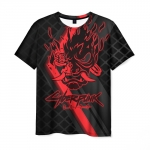 Merch Men'S T-Shirt Cyberpunk 2077 Label Print Black