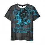 Merchandise Men'S T-Shirt Cyberpunk 2077 Gray Print Merch