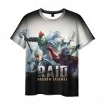 Merch Men'S T-Shirt Raid Shadow Legends Heroes Print