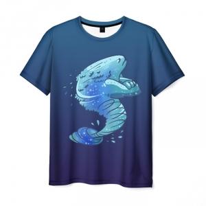 Merchandise Men'S T-Shirt Morflink Dota Print Blue