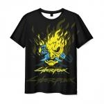 Collectibles Men'S T-Shirt Samurai Cyberpunk 2077 Black Design