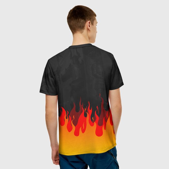 Merchandise Men'S T-Shirt Raid: Shadow Legends Fire Black Text