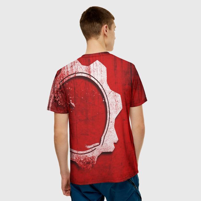 Merch Men'S T-Shirt Gears Of War 5 Red Logo Print