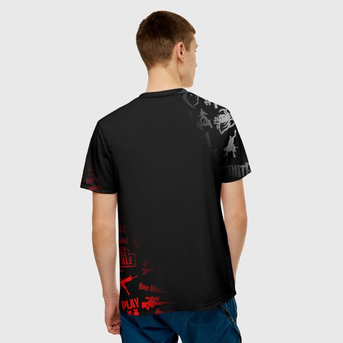 Merchandise Men T-Shirt Black Fortnite Game Title