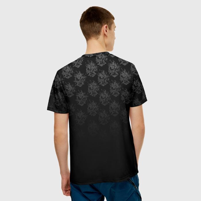 Collectibles Men'S T-Shirt Orange Face Samurai Cyberpunk