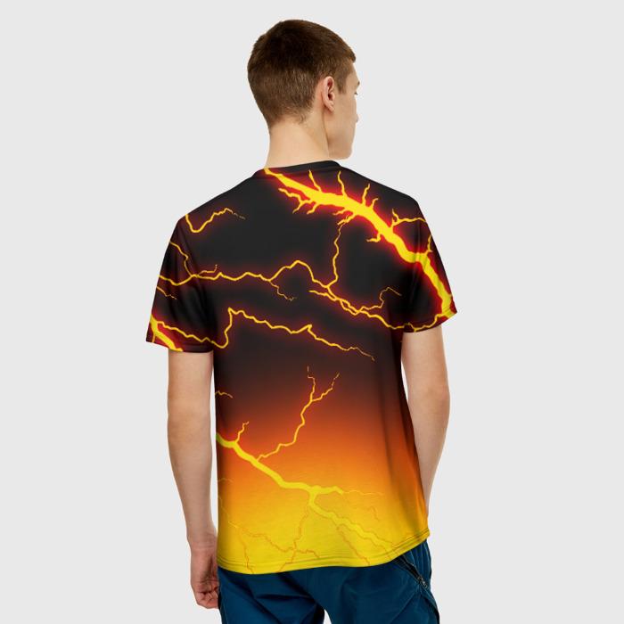 Merch Men'S T-Shirt Orange Lighting Game Stalker