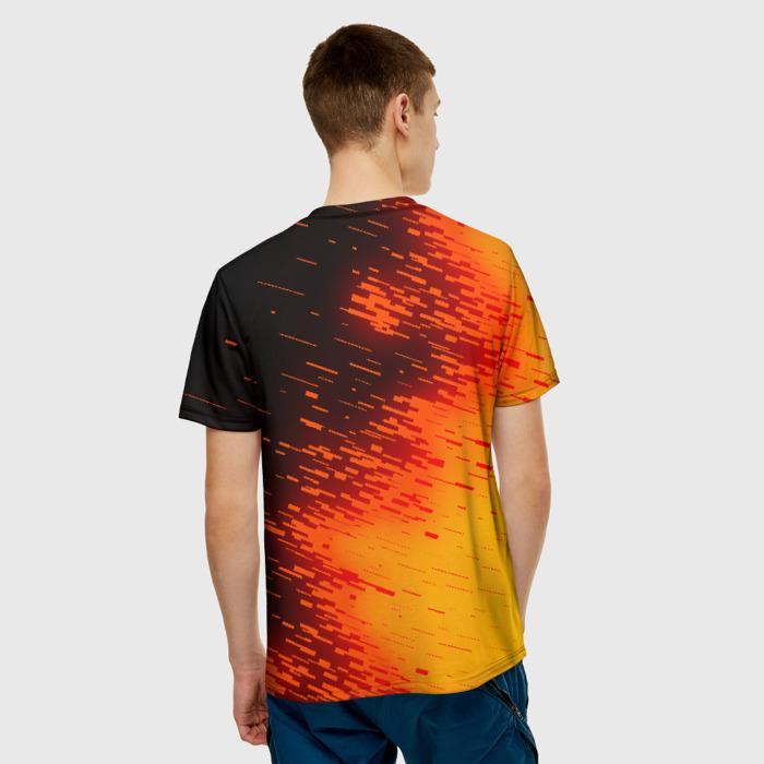 Merch Men'S T-Shirt Orange Print Rainbow Six Siege Text Number