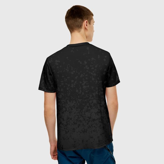 Merchandise Men'S T-Shirt Print Samurai Grey Sakura Cyberpunk