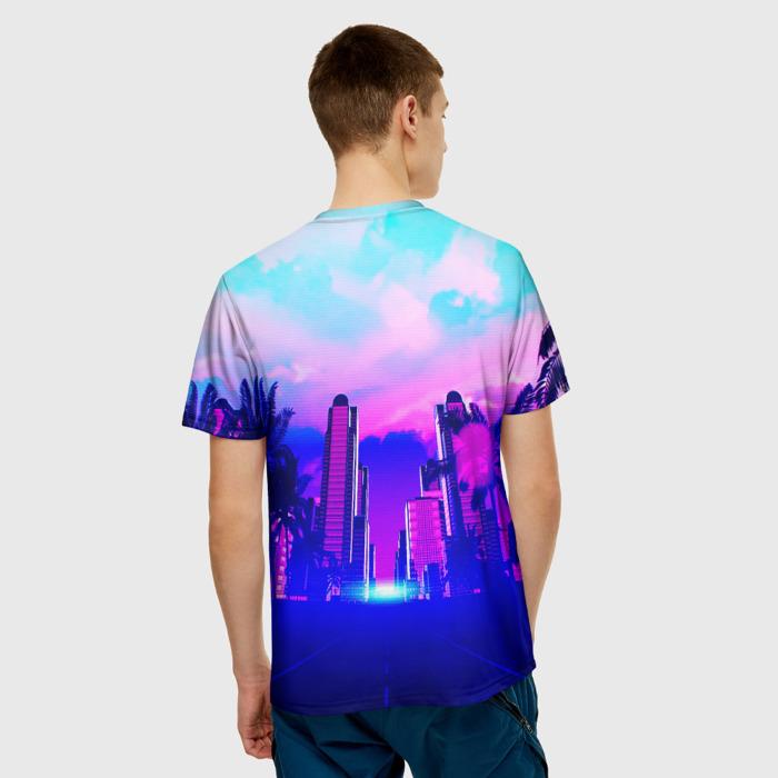 Merchandise Men'S T-Shirt Landscape Print Hotline Miami Merch