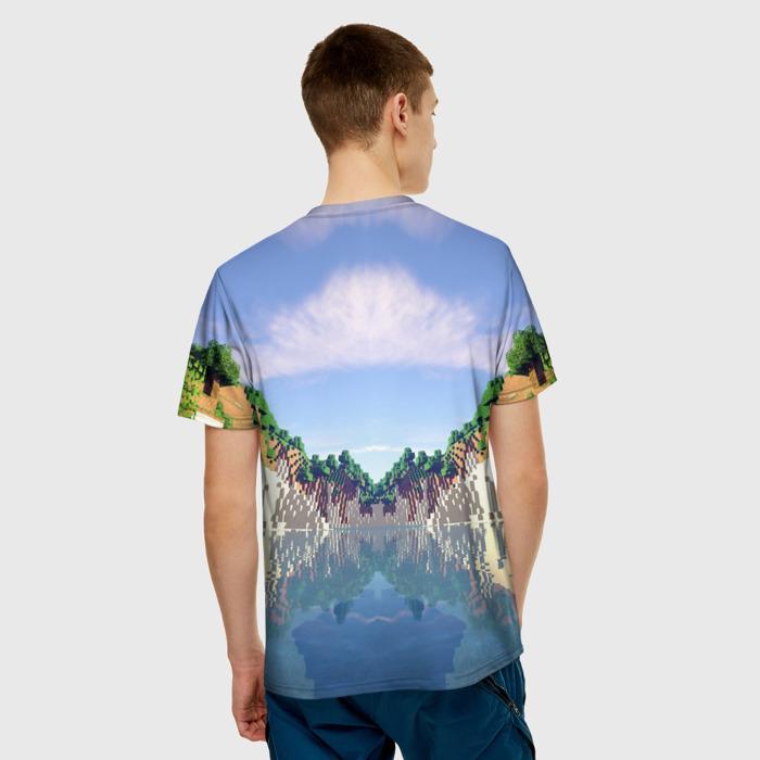 Merchandise Men'S T-Shirt Landscape Design Minecraft Merch