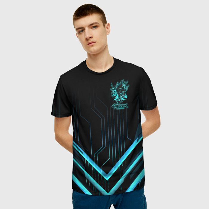 Collectibles Men'S T-Shirt Cyberpunk 2077 Black Print Design