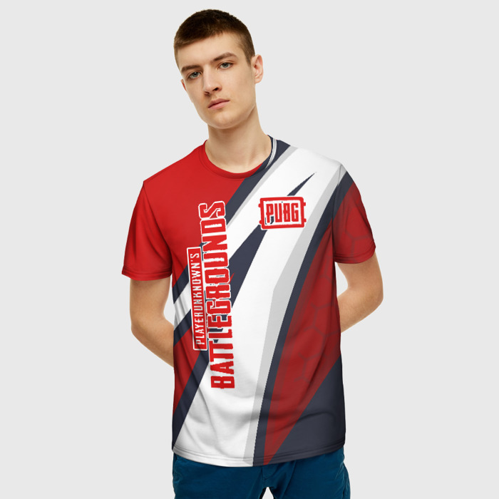 Collectibles Two Lines Pubg Men T-Shirt Red Sport Style