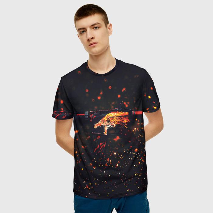 Merchandise Men'S T-Shirt Design Howl Print Counter Strike