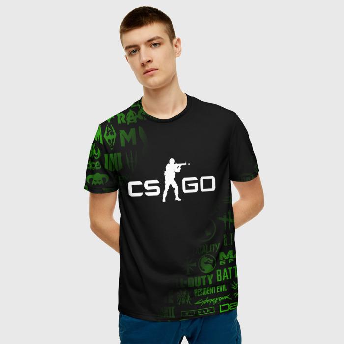 Merch Men'S T-Shirt Game Counter Strike Black