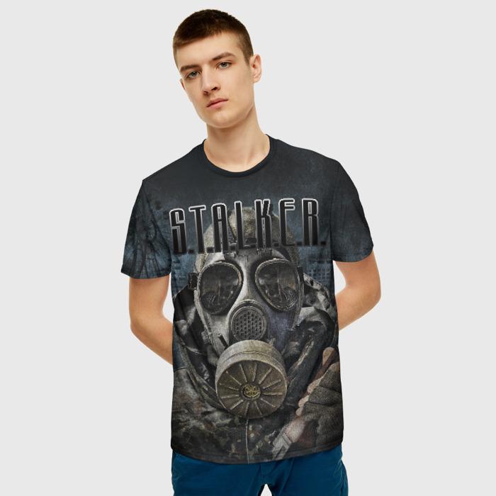 Collectibles Men T-Shirt Mask Face Game Stalker