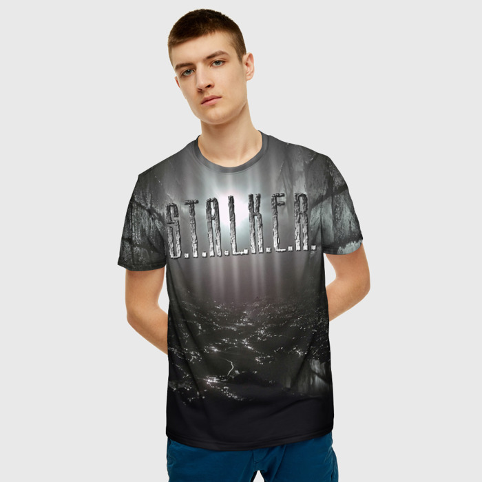 Collectibles Men T-Shirt Footage Game Stalker Black