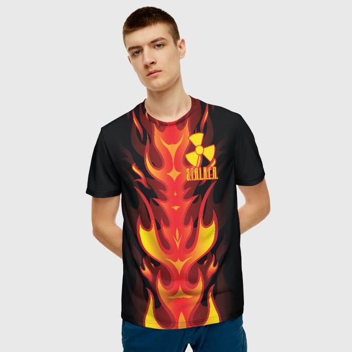 Collectibles Men T-Shirt Flame Black Sign Stalker