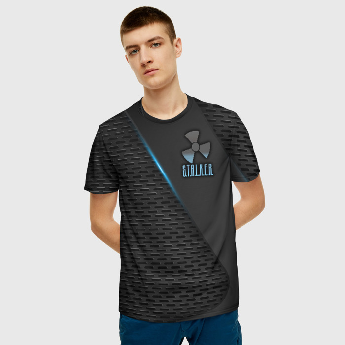 Merchandise Men T-Shirt Pattern Black Image Stalker