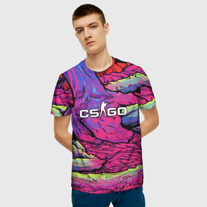 Merch Men'S T-Shirt Text Cs:go Psychedelic Merchandise