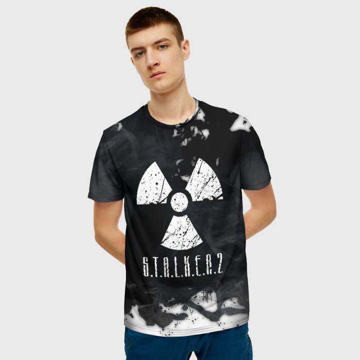 Merchandise Men'S T-Shirt Emblem Game Print Stalker Radiation