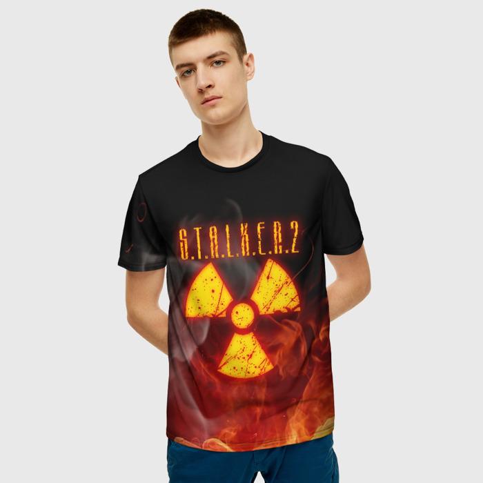 Collectibles Men'S T-Shirt Fire Print Radiation Design Stalker