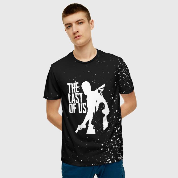 Merch Men'S T-Shirt Person Black Print The Last Of Us