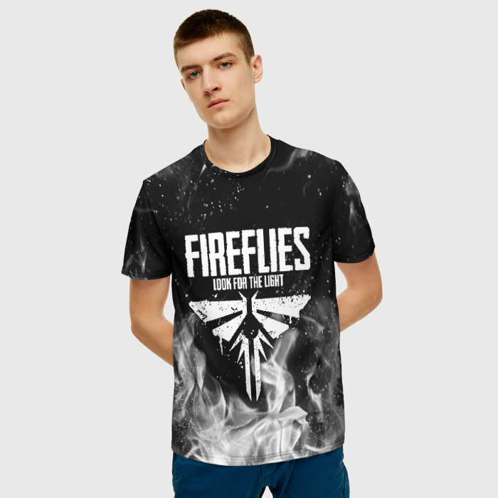 Merch Men'S T-Shirt Print Game The Last Of Us Text