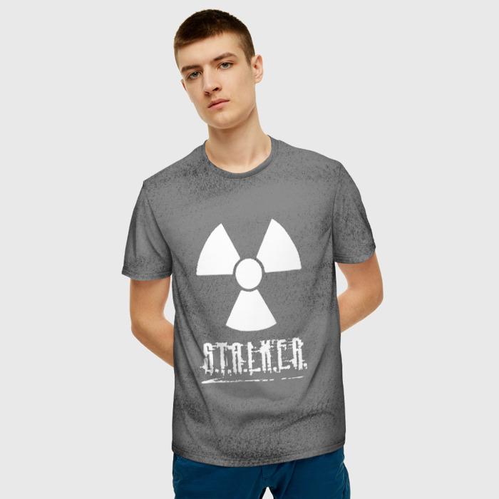 Merchandise Men'S T-Shirt Gray Print Sign Stalker