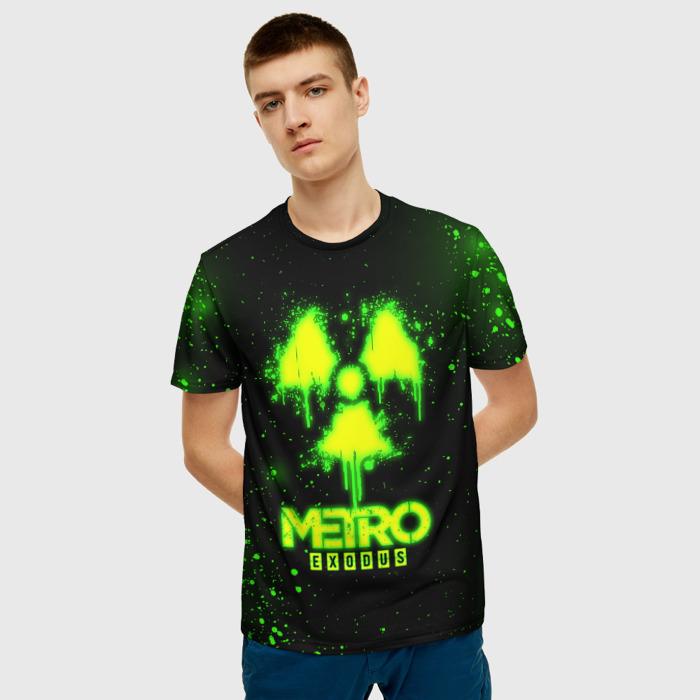 Merch Men'S T-Shirt Green Sign Metro Exodus