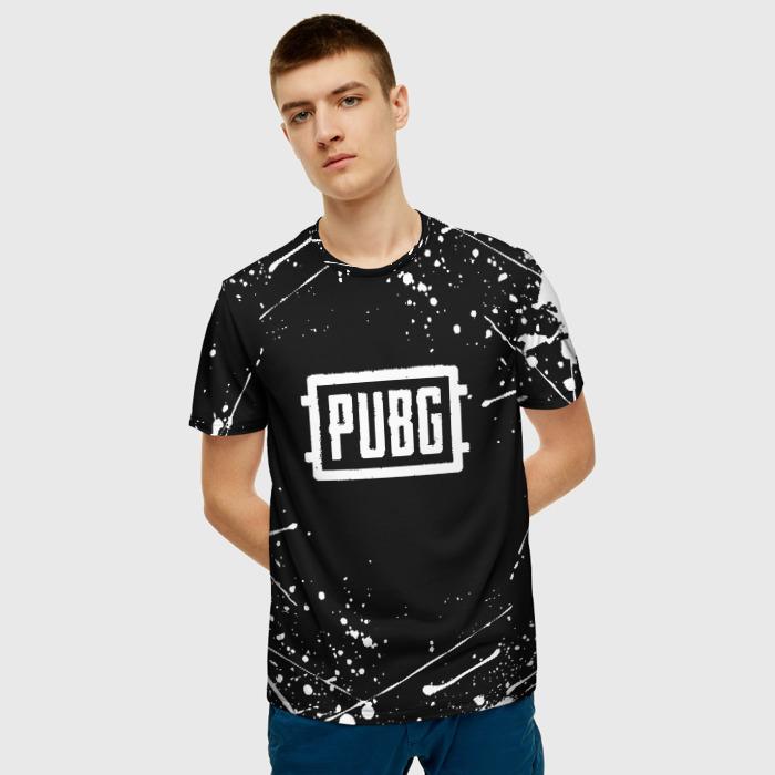 Merch Men'S T-Shirt Graphic Game Pubg Merchandise Black
