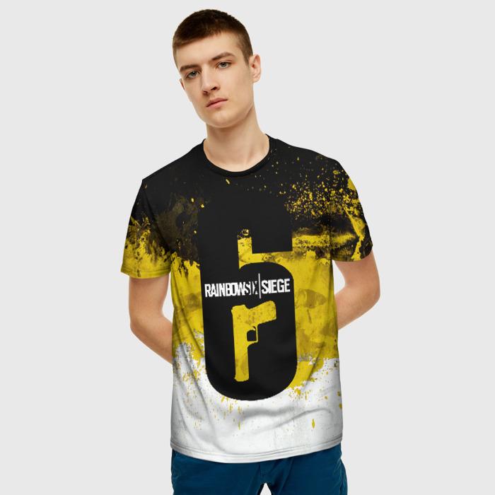 Merch Men'S T-Shirt Drawing Print Game Rainbow Six Siege