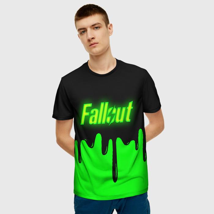 Merch Men'S T-Shirt Print Game Fallout Green Merch